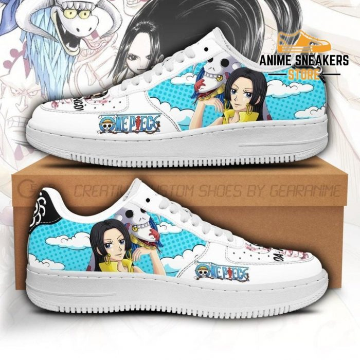 Boa Hancok Sneakers Custom One Piece Anime Shoes Fan Pt04 Men / Us6.5 Air Force
