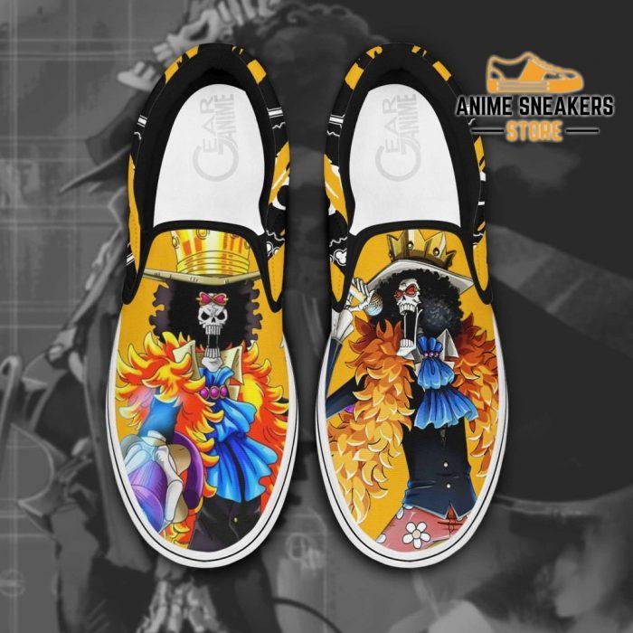 Brook Slip On Shoes One Piece Custom Anime Men / Us6 Slip-On