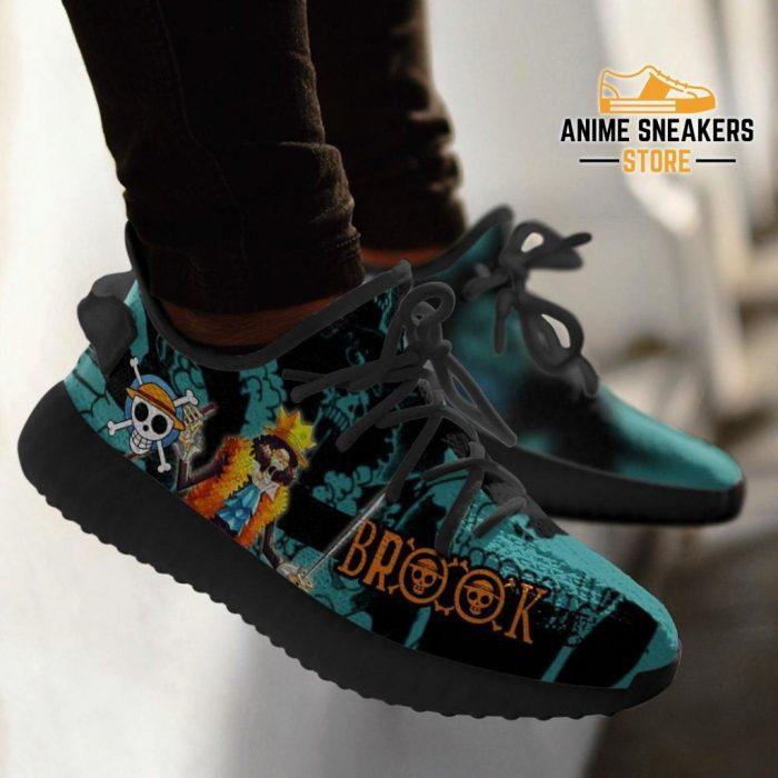 Brook Yeezy Shoes One Piece Anime Fan Gift Tt04