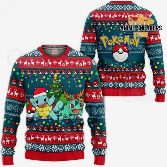 Bulbasaur And Squirtle Ugly Christmas Sweater Pokemon Xmas Gift Va11 / S All Over Printed Shirts