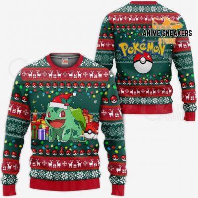 Bulbasaur Ugly Christmas Sweater Pokemon Anime Xmas Gift Va11 / S All Over Printed Shirts