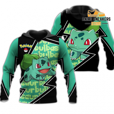 Bulbasaur Zip Hoodie Costume Pokemon Shirt Fan Gift Idea Va06 Adult / S All Over Printed Shirts