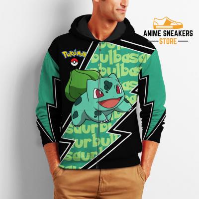 Bulbasaur Zip Hoodie Costume Pokemon Shirt Fan Gift Idea Va06 All Over Printed Shirts