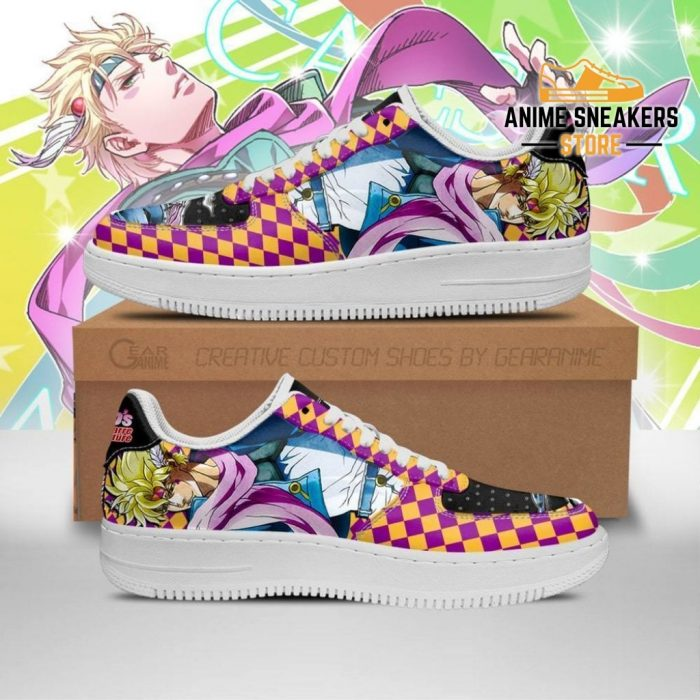 Caesar Anthonio Zeppeli Sneakers Jojo Anime Shoes Fan Gift Idea Pt06 Men / Us6.5 Air Force