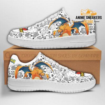 Charizard Sneakers Pokemon Shoes Fan Gift Idea Pt04 Men / Us6.5 Air Force