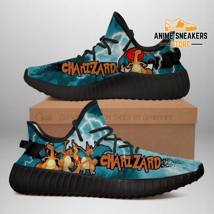 Charizard Yeezy Shoes Pokemon Anime Sneakers Fan Gift Idea Tt04 Men / Us6