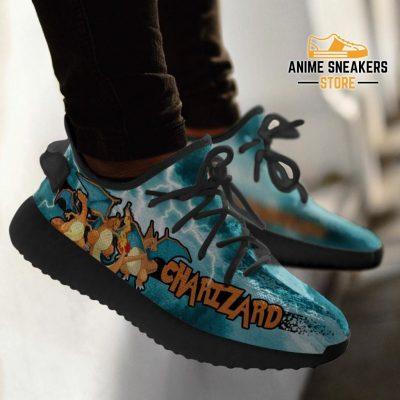 Charizard Yeezy Shoes Pokemon Anime Sneakers Fan Gift Idea Tt04
