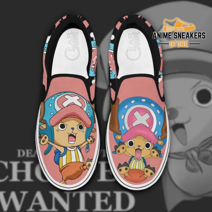 Chopper Slip On Shoes One Piece Custom Anime Men / Us6 Slip-On
