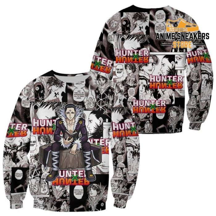 Chrollo Lucilfer Hunter X Shirt Sweater Hxh Anime Hoodie Jacket / S All Over Printed Shirts