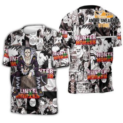 Chrollo Lucilfer Hunter X Shirt Sweater Hxh Anime Hoodie Jacket T-Shirt / S All Over Printed Shirts