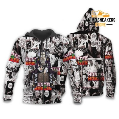 Chrollo Lucilfer Hunter X Shirt Sweater Hxh Anime Hoodie Jacket Zip / S All Over Printed Shirts