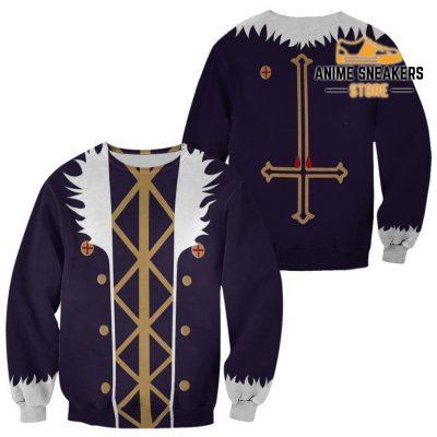 Chrollo Lucilfer Hunter X Uniform Shirt Hxh Anime Hoodie Jacket Sweater / S All Over Printed Shirts