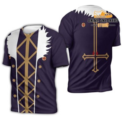Chrollo Lucilfer Hunter X Uniform Shirt Hxh Anime Hoodie Jacket T-Shirt / S All Over Printed Shirts