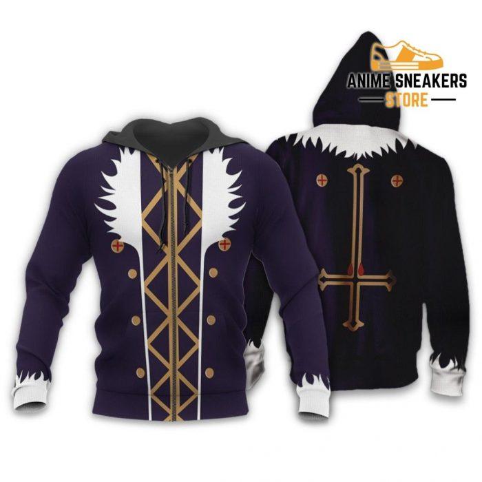Chrollo Lucilfer Hunter X Uniform Shirt Hxh Anime Hoodie Jacket Zip / S All Over Printed Shirts