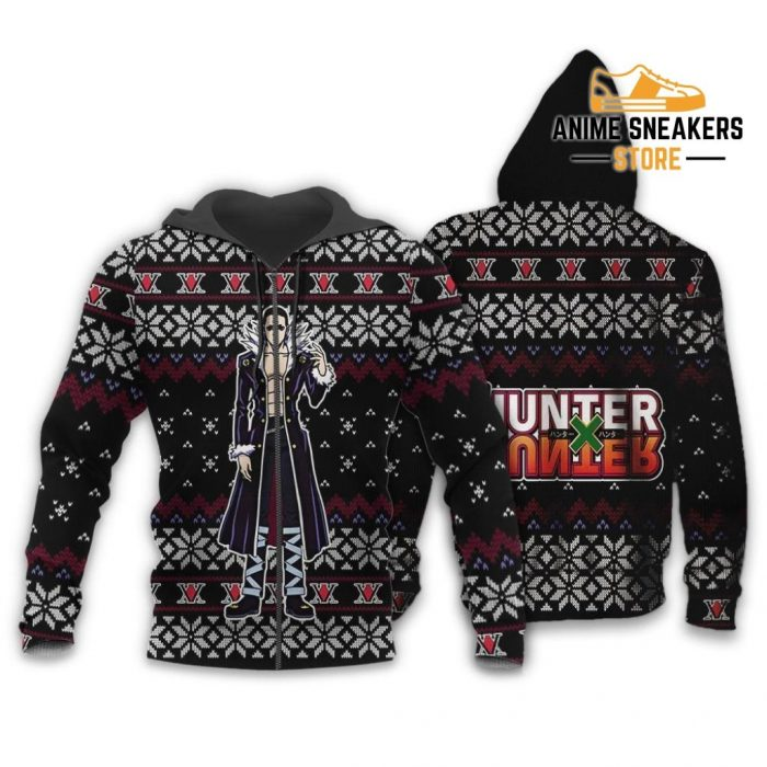 Chrollo Lucilfer Ugly Christmas Sweater Hunter X Gift Zip Hoodie / S All Over Printed Shirts
