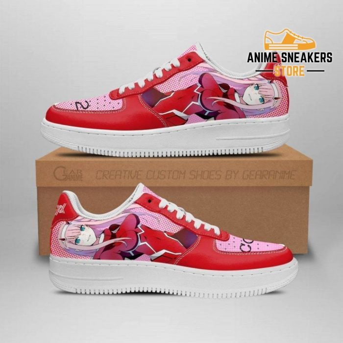 Code 002 Darling In The Franxx Shoes Zero Two Sneakers Anime Men / Us6.5 Air Force