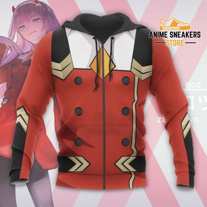 Code 002 Zero Two Uniform Hoodie Darling In The Franxx Jacket All Over Printed Shirts