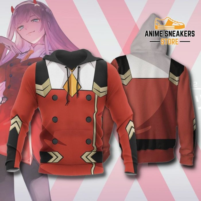 Code 002 Zero Two Uniform Hoodie Darling In The Franxx Jacket / S All Over Printed Shirts