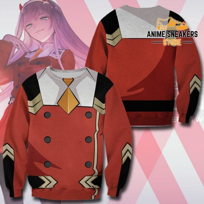 Code 002 Zero Two Uniform Hoodie Darling In The Franxx Jacket Sweater / S All Over Printed Shirts