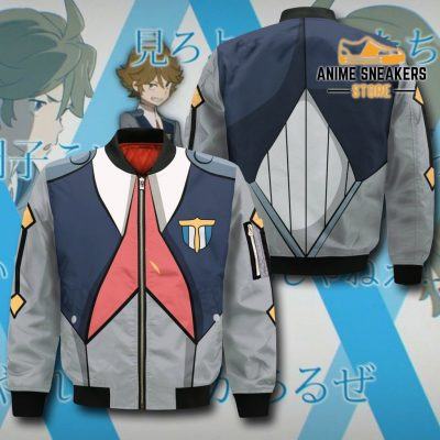 Code 666 Zorome Darling In The Franxx Zip Hoodie Jacket Uniform Bomber / S All Over Printed Shirts