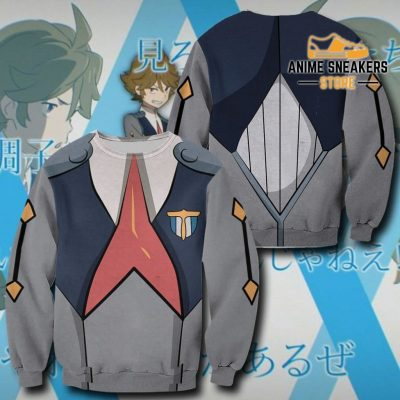 Code 666 Zorome Darling In The Franxx Zip Hoodie Jacket Uniform Sweater / S All Over Printed Shirts