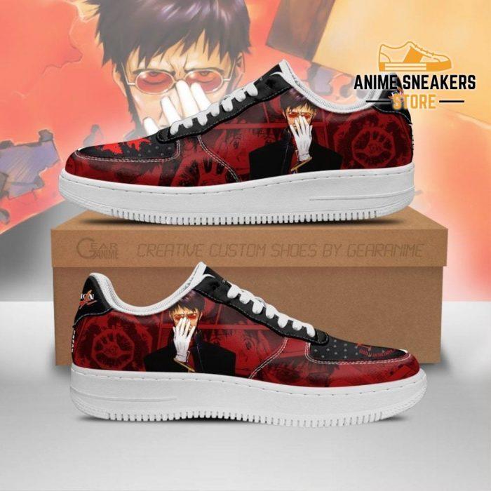 Comander Gendo Ikari Sneakers Neon Genesis Evangelion Shoes Men / Us6.5 Air Force