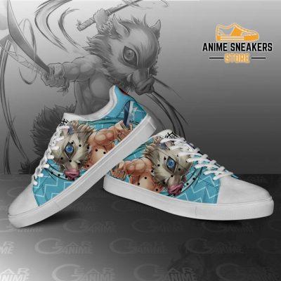 Inosuke Hashibira Skate Shoes Demon Slayer Anime Custom Pn10