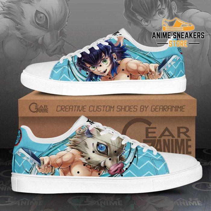 Inosuke Hashibira Skate Shoes Demon Slayer Anime Custom Pn10 Men / Us6