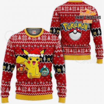 Cute Pikachu Ugly Christmas Sweater Pokemon Anime Xmas Gift / S All Over Printed Shirts
