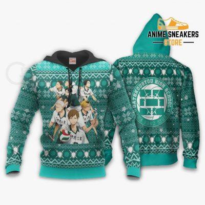Dateko Ugly Christmas Sweater Date Tech High Haikyuu Xmas Va10 Hoodie / S All Over Printed Shirts