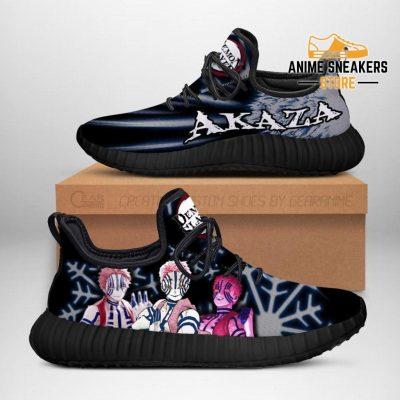 Demon Slayer Akaza Reze Shoes Custom Anime Sneakers Costume Men / Us6
