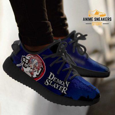 Akaza Yeezy Shoes Demon Slayer Anime Sneakers Fan Gift Tt04