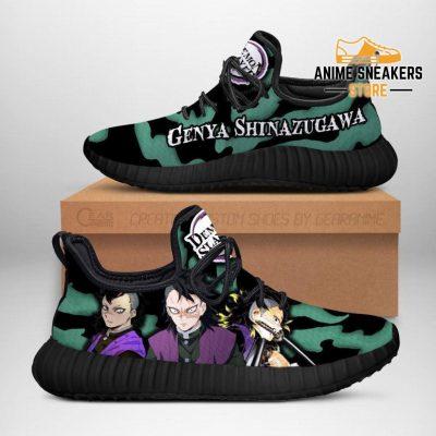 Demon Slayer Genya Shinazugawa Reze Shoes Custom Anime Sneakers Men / Us6