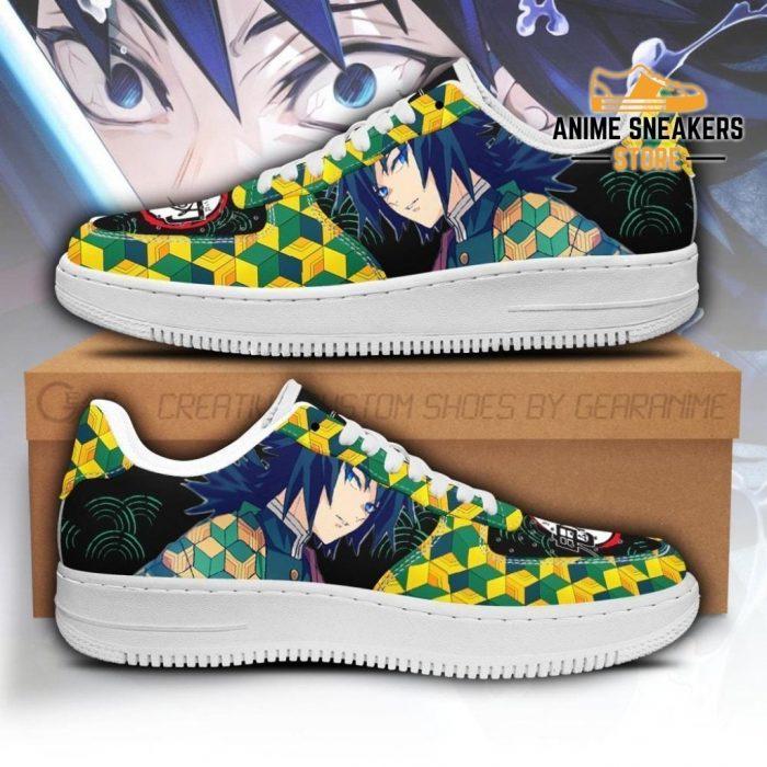Giyu Sneakers Custom Demon Slayer Anime Shoes Fan Pt05 Men / Us6.5 Air Force