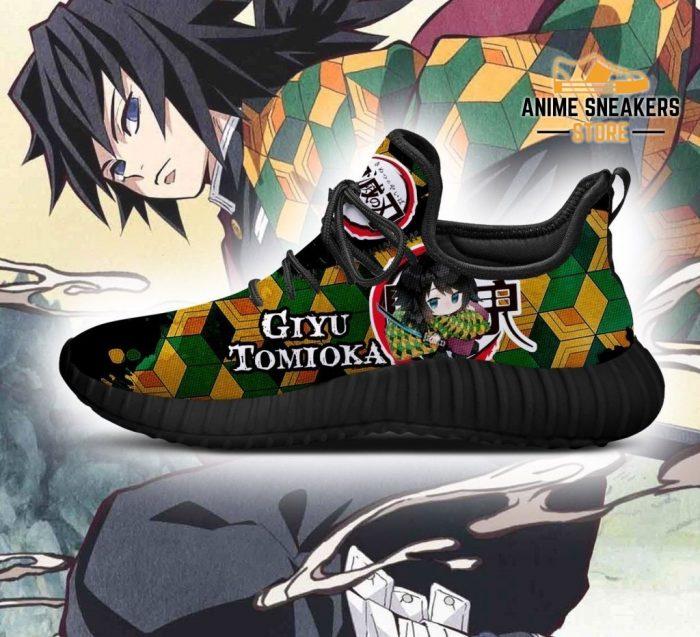 Giyu Tomioka Reze Shoes Demon Slayer Anime Sneakers Fan Gift Idea