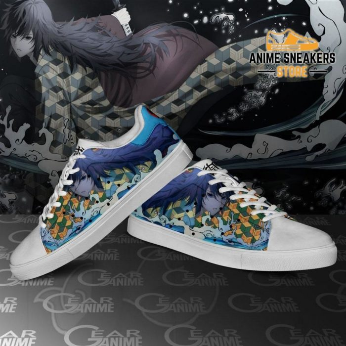 Giyu Tomioka Skate Shoes Demon Slayer Anime Custom Pn10
