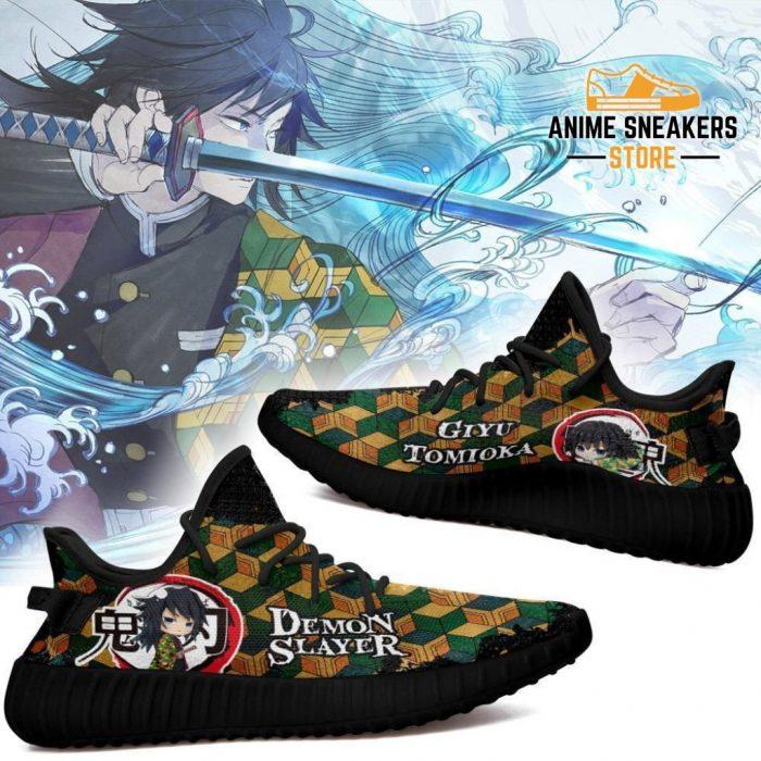Giyu Tomioka Yeezy Shoes Demon Slayer Anime Sneakers Fan Gift Tt04