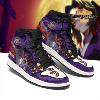 Demon Kokushibou Shoes Boots Slayer Anime Sneakers Fan Gift Idea Jd