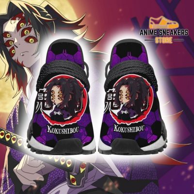 Kokushibou Shoes Custom Demon Slayer Anime Sneakers Men / Us6 Nmd
