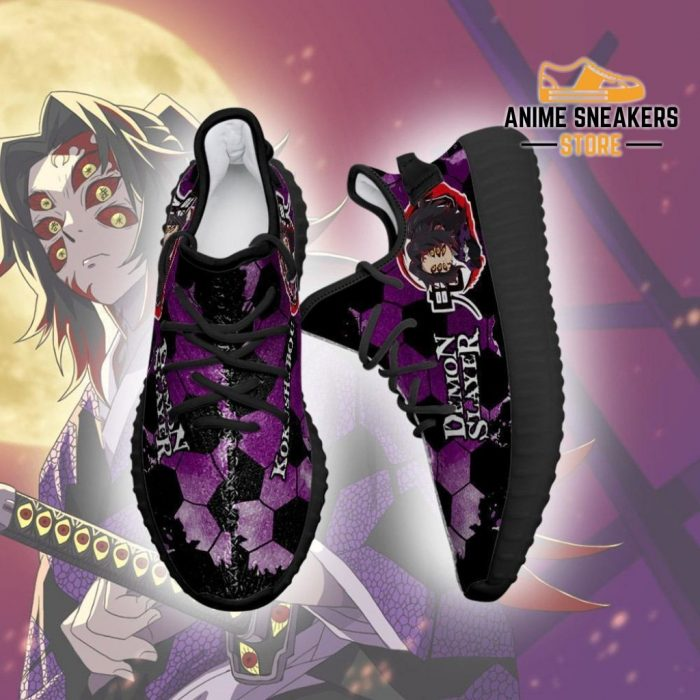 Kokushibou Yeezy Shoes Demon Slayer Anime Sneakers Fan Gift Tt04