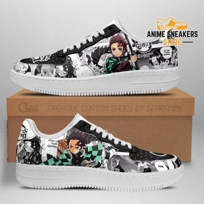 Demon Slayer Sneakers Manga Anime Shoes Fan Gift Idea Tt04 Men / Us6.5 Air Force