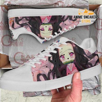 Nezuko Kamado Skate Shoes Demon Slayer Anime Custom Pn10