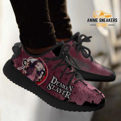 Nezuko Yeezy Shoes Demon Slayer Anime Sneakers Fan Gift Tt04