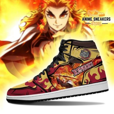 Rengoku Shoes Boots Demon Slayer Anime Sneakers Fan Gift Idea Jd