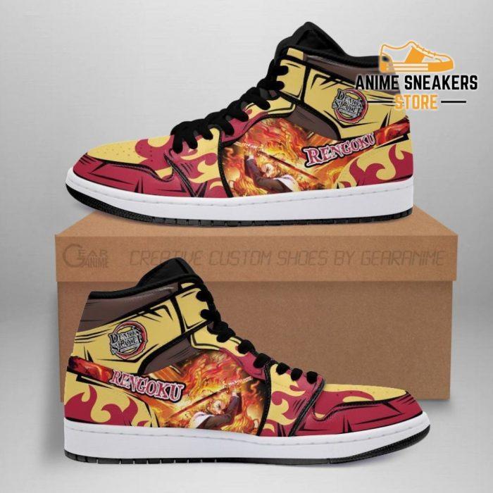 Rengoku Shoes Boots Demon Slayer Anime Sneakers Fan Gift Idea Men / Us6.5 Jd