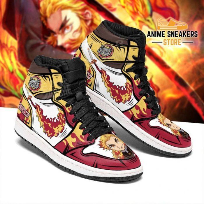 Rengoku Sneakers Fire Skill Demon Slayer Anime Shoes Fan Gift Idea Mn05 Jd