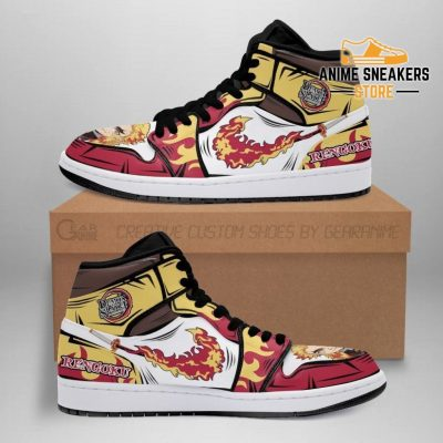 Rengoku Sneakers Fire Skill Demon Slayer Anime Shoes Fan Gift Idea Mn05 Men / Us6.5 Jd