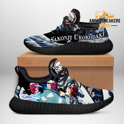 Demon Slayer Sakonji Urokodaki Reze Shoes Custom Anime Sneakers Men / Us6