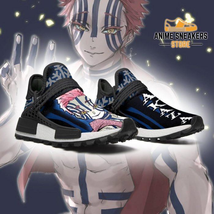 Demon Slayer Shoes Akaza Custom Anime Sneakers Nmd