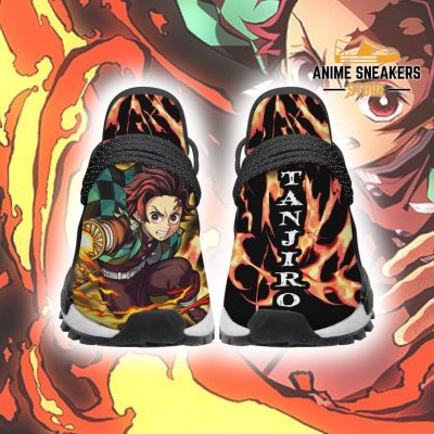 Demon Slayer Tanjiro Shoes Fire Breathing Anime Sneakers Men / Us6 Nmd